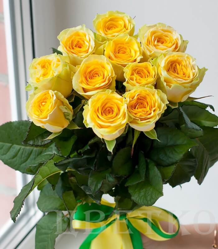 Картинки букеты желтых роз