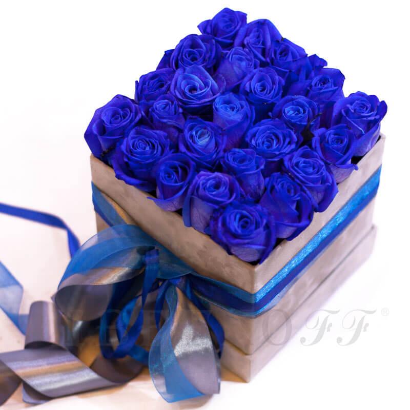 Магазины твери, букет из синих роз сердце